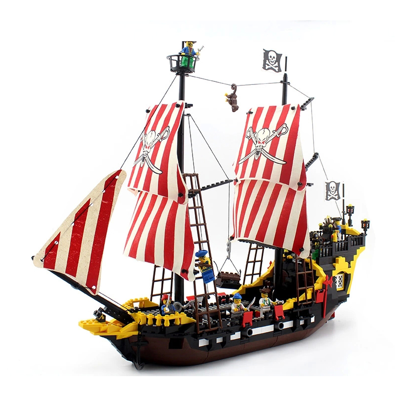 model building kits compatible with lego city pirates Black Pearl blocks Educational model & building toys hobbies for children lepin 02012 city deepwater exploration vessel 60095 building blocks policeman toys children compatible with lego gift kid sets
