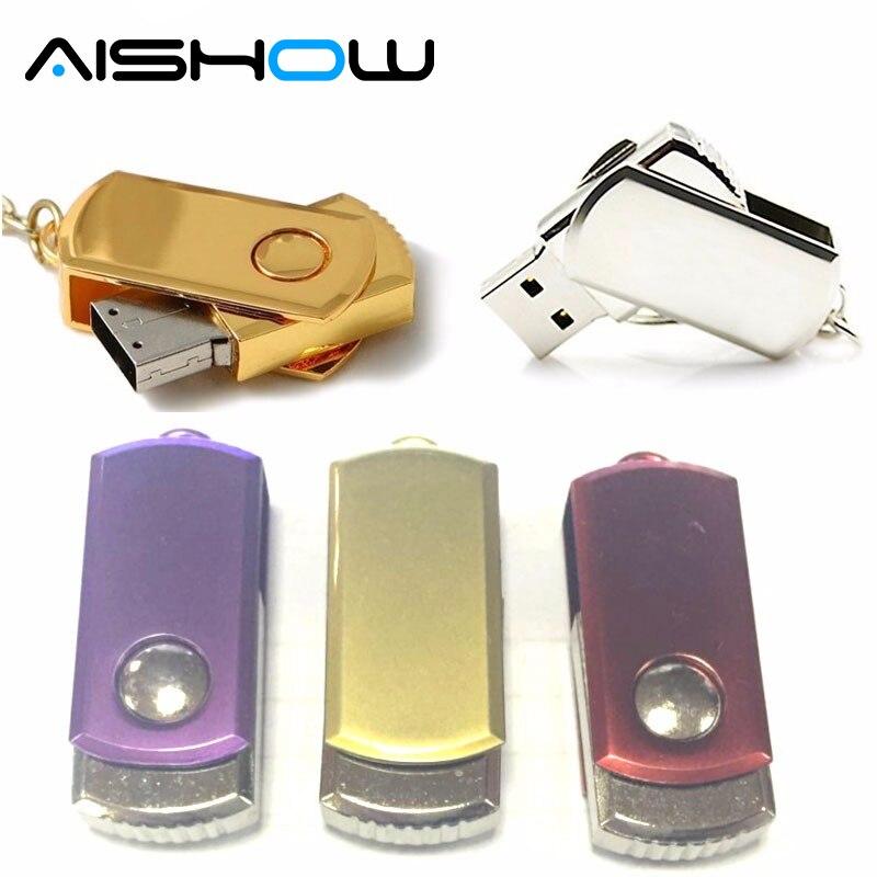 NEW customized usb flash drive 4G Silver fat 8G Metal 16G pendrive flash memory drive gift u disk pen drive freeshipping