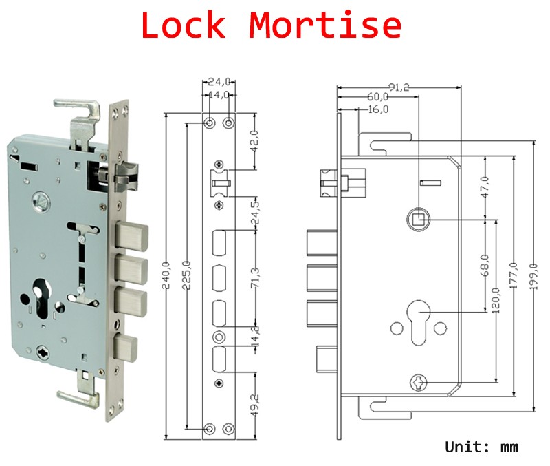 304 Stainless Steel Cheap Smart Keyless Keypad Passowrd Lock Digiatl Security Code Biometric Wireless Fingerprint Door Lock