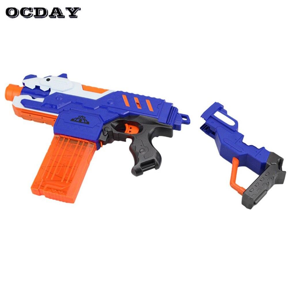 Hot électrique balle molle pistolet jouet série tir cible pistolet jouet en plastique détachable fusil pistolets drôle jouet pour enfants cadeaux