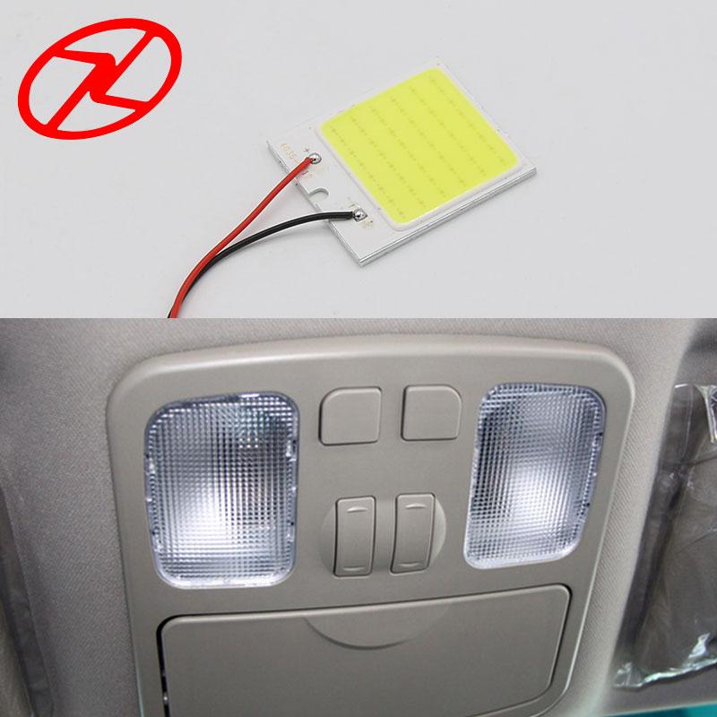 2бр Бял COB чип 48 smd LED интериор на - Автомобилни светлини - Снимка 4