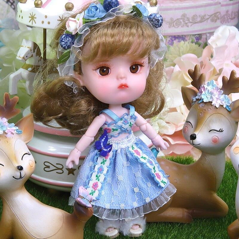 14cm kawaii Mini fruits filles poupées peint à la main maquillage Joint OB11 poupée bébé poupée jouets pour filles enfants cadeau d'anniversaire - 6