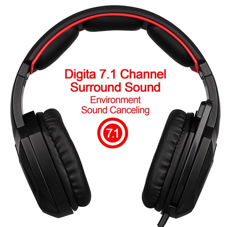 Sades Spirito Lupo USB 7.1 Cuffie Stereo Gaming con Microfono LED ... ff06186038c1