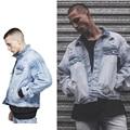 2017 Newest Men Fashion Oversize Denim Coat Kanye West Fear of god Blue jacket Justin Bieber jackets windbreaker Style Jacket