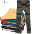 2016 Brand New Fashion Brand 100 % Cotton Pant Trousers Men Casual Pants Male Freeshipping Business Pants 13 Colors UK222