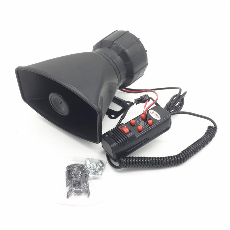 DC12V 100W 5 Tone Police Horn Alarm Siren Car Motorcycle Truck Tape Megaphone Pa Warning Siren Alarm Speaker System+ Microphone