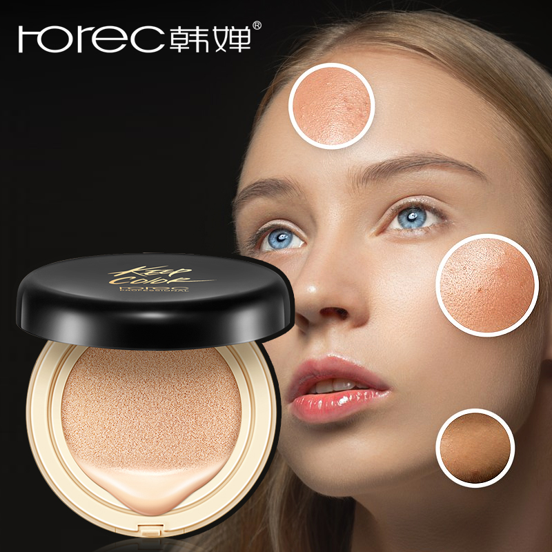 ROREC BB & CC Cream Air Cushion Tone-Correcting Face Cream Concealer Makeup Foundation Isolation Primer Visibly Reduce Redness
