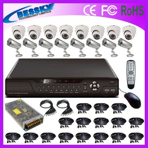 Free shipping hot sale 16ch Network dvr ,camera security  (BE-8116V8IB8CD42)