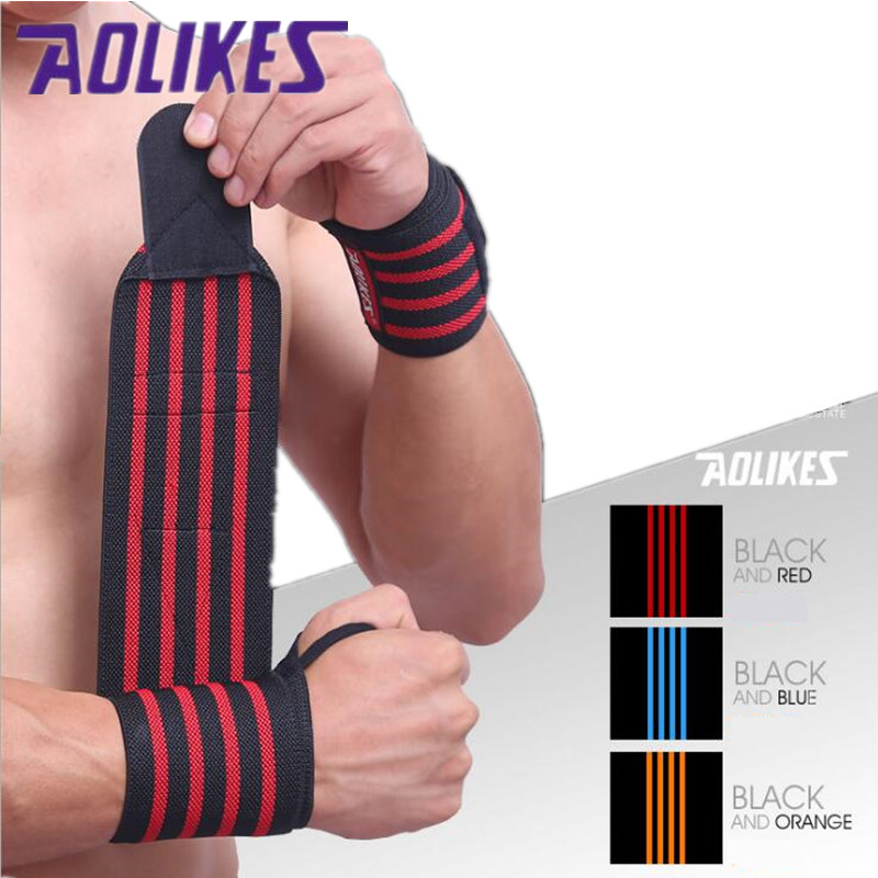 Sport Cotton Elastic Bandage Hand Sport Wristband Gym Support Wrist Brace Fitness Tennis Polsini Sweat Band Munhequeira 1pcs A