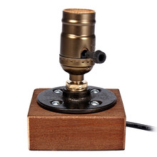E27 Retro Wooden Electric Desk Bedside Night Lamp Table Lamp Classic Study Bar Coffee Shop Light Indoor Lighting Supplies(China)