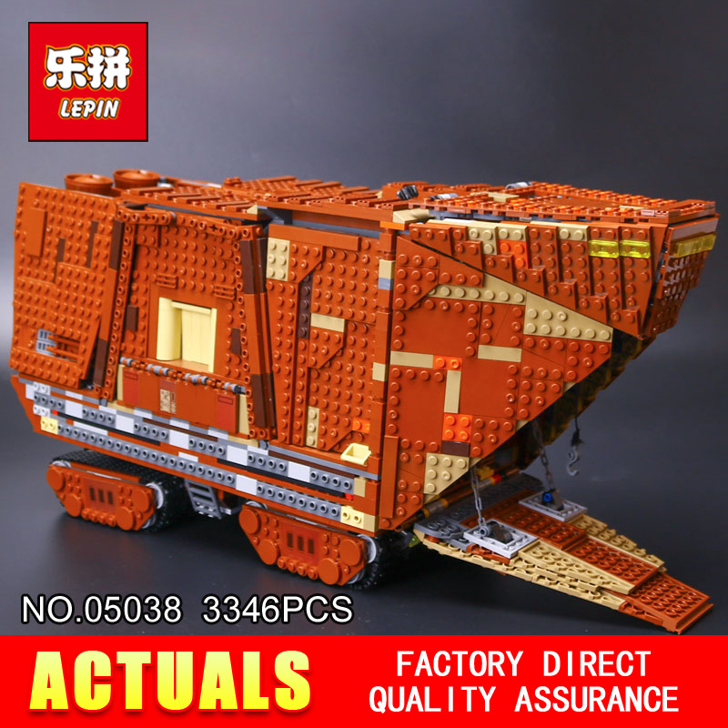 Lepin 05038 Star Wars Sandcrawler Building Blocks Sets Juguete para Construir Bricks Toys compatible