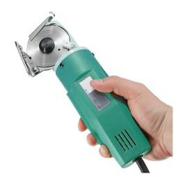 Potężne ostrze obrotowe elektryczne tkaniny nóż tkaniny tekstylne nóż okrągły 170W 220V nożyce do cięcia obrabiarki zielony US/ue wtyczka w Nożyczki od Narzędzia na
