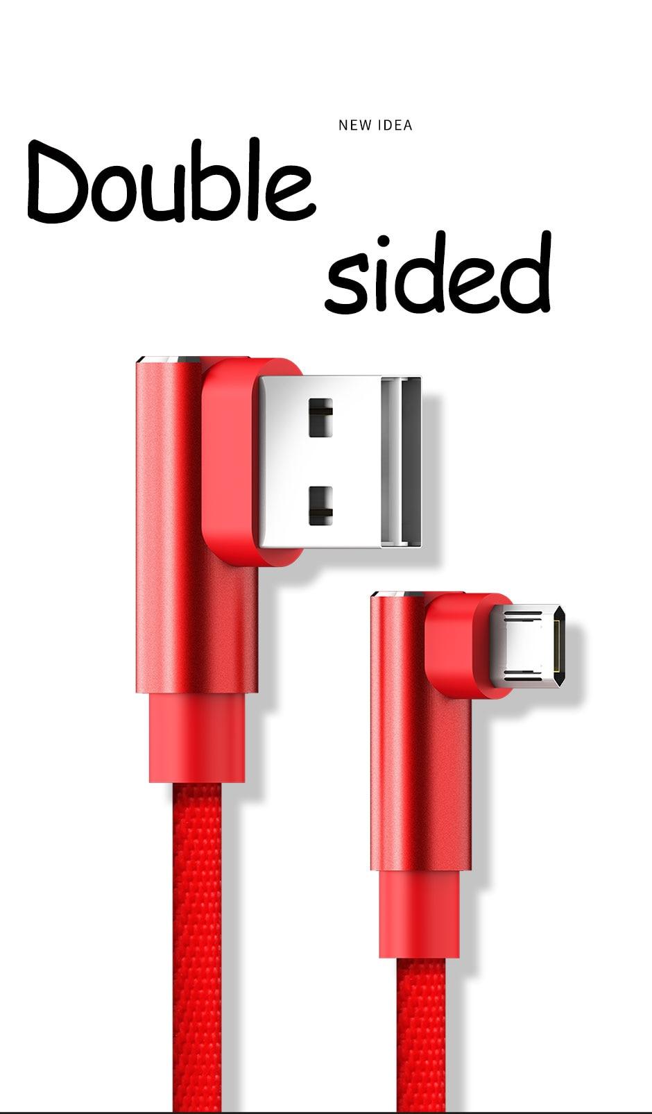 US $249.0 |100 sztuk APPACS 90 stopni Micro USB kabel 2.4A szybka ładowarka kabel danych pleciony kabel|Kable do telefonów komórkowych| AliExpress