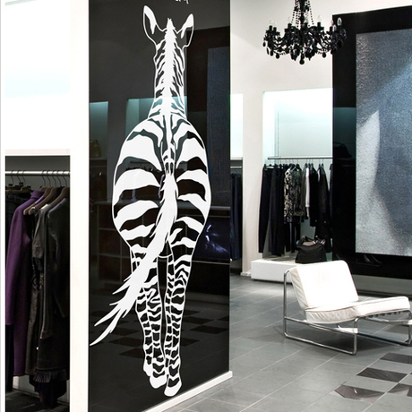2015 African Animal Vinyl Wall Decal Zebra Sexy Body Mural Art Wall Sticker Bar Living Room Bedroom Home Decoration