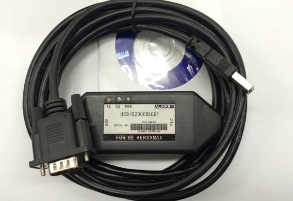 USB-IC200CBL001 High Grade Dimond shape USB Programming Cable for GE Fanuc SNP VersaMax PLC ic690usb901 usb to snp adapter for ge fanuc 90 series plc fast shipping
