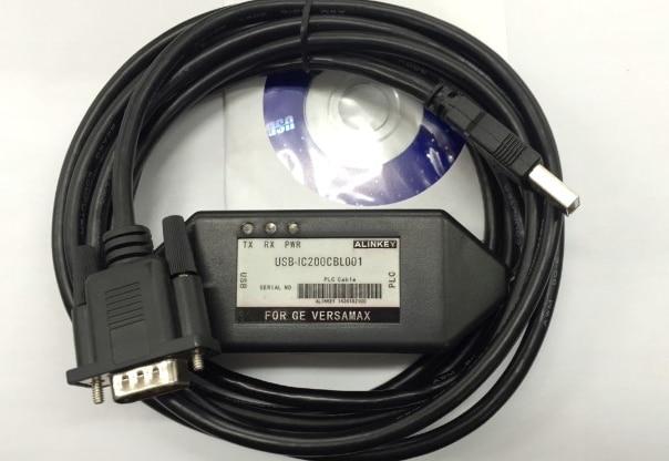 USB-IC200CBL001 High Grade Dimond shape USB Programming Cable for GE Fanuc SNP VersaMax PLC practical usb cable cable ppi mpi of programming cd for siemens s7 200 300 400 plc