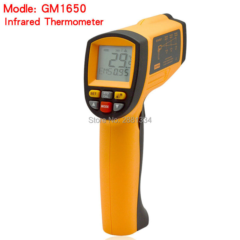 GM1650 Non-contact IR Infrared Digital Thermometer with Laser Measurement Range 200~ 1650 degrees цены