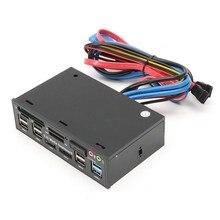 5,25 дюймовый USB3.0 привод TF считыватель смарт-карт USB3.0 SA TA аудио Передняя панель медиа приборная панель USB3.0 SD кард-ридер