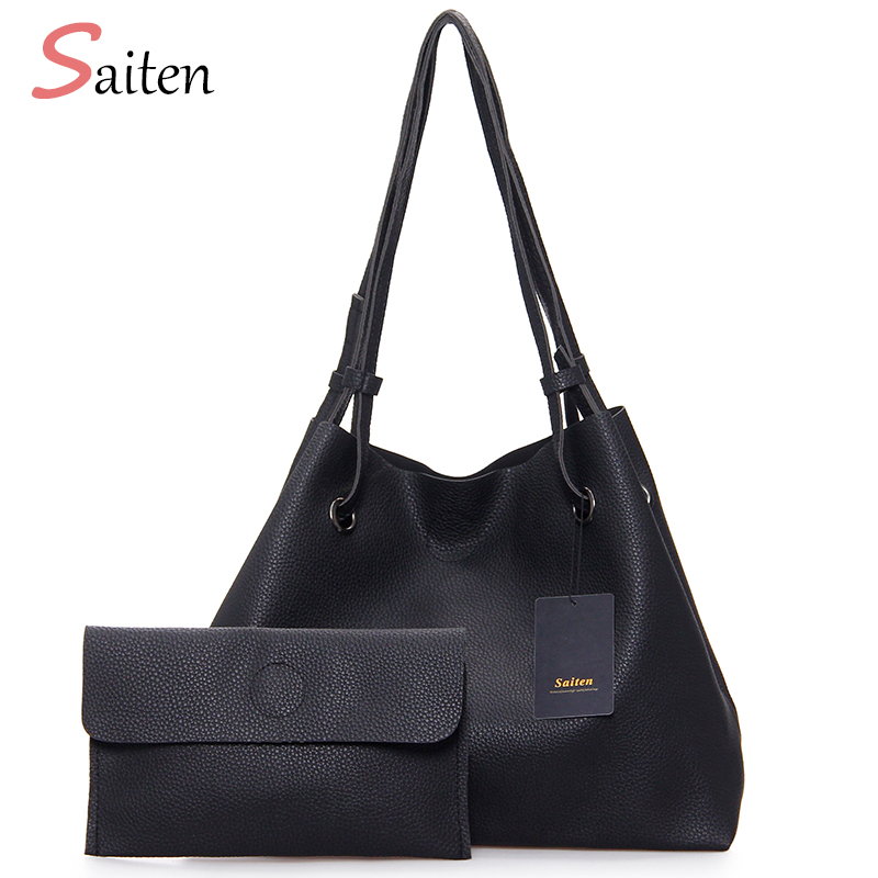 New 2017 Famous Brand Hand Bags Women Bucket Bag PU Leather Shoulder Bags Hot Sale Composite Bag Women Handbag Tote bolsos mujer