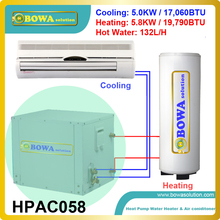 Super Hi-COP Household Air Conditioning Unit Doubles As Water Heater can produce 5.0KW cooling and 5.8KW heating