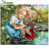 YOGOTOP Diy Diamond Painting Cross Stitch Mosaic Kits Needlework Girls Shoes Painting Square Diamond Embroidery Home
