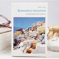 30 листов/лот отправляйтесь в путешествие, чтобы запомнить открытку Санторини/поздравительную открытку/модный подарок