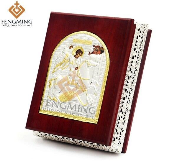 levné náboženské zboží narození svatého Jiří dřevěné krabice křesťanské dárky pamětní šperky velkoobchod náboženské umělecké dílo cetku krabice