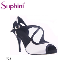 Suphini Special Design Wedding Party Social Shoes Woman Tango Shoes 8cm Open Toe Thin Heel Party Dance Shoes цена