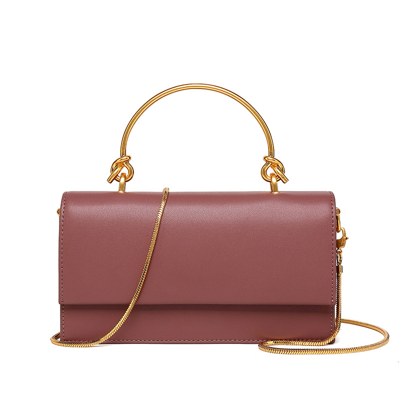 TANGDE 2019 SPRING NEW ARRIVAL SOLID COLOR LUXURY LEATHER MINIMALISM TOP HANDEL GOLDEN CHAIN FLAP TOTE