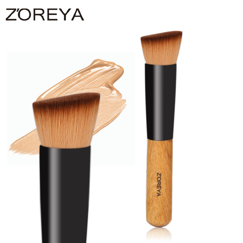 Professional Multi-Function Powder Brush Lady Oblique Angle Used With Contour Blusher Make Up Brush Cosmetic Tool Maquiagem new portable flat contour makeup brush used with powder blusher concealer make up brushes as beauty cosmetic tool maquiagem
