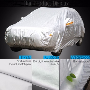 Cawanerl Auto Car Cover Anti UV Sun Snow Rain Resistant Cover For Suzuki Alto S-Cross Alivio SX4 Grand Vitara APV Esteem Forenza