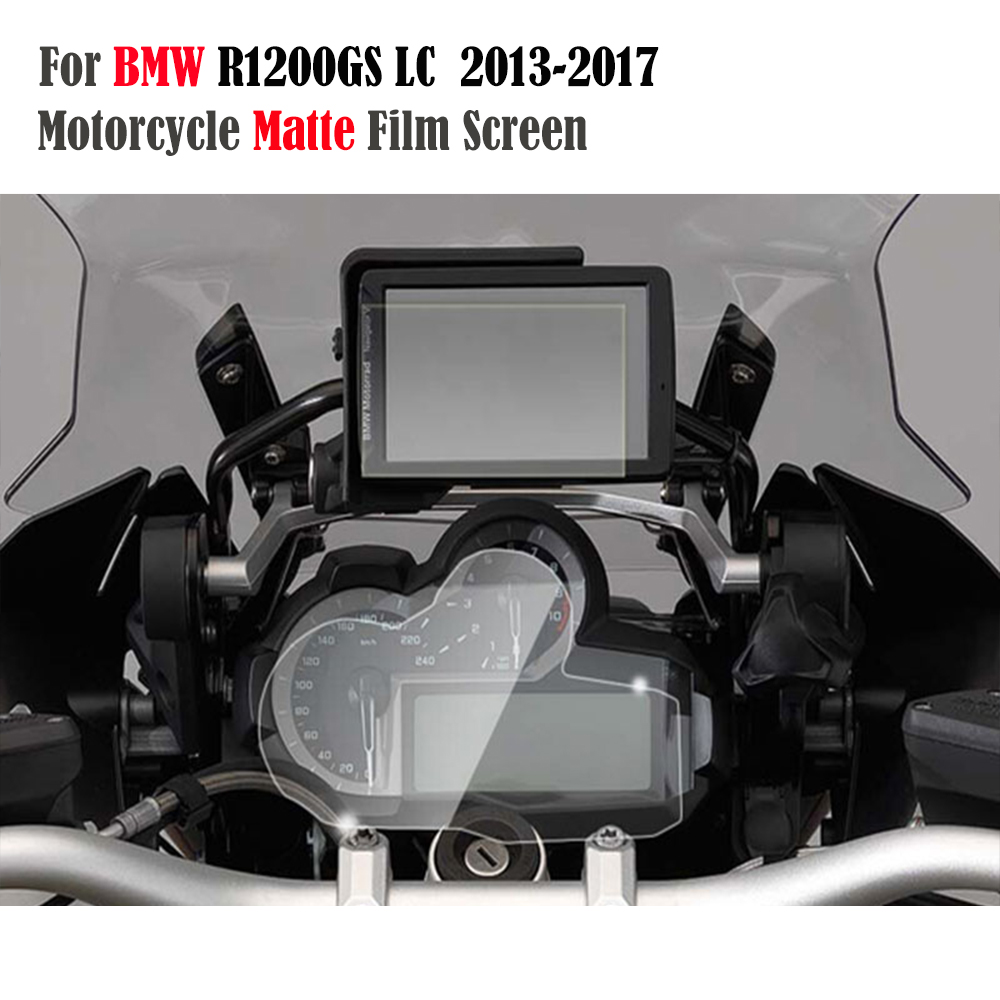 For BMW R1200GS Adventure LC 2014-2017/LC 2013-2017 Cluster&GPS Navigator Scratch Protection Matte Film Screen Protector 5 resistive screen wince 6 0 gps navigator w fm transmitter tf 4gb brazil map black red