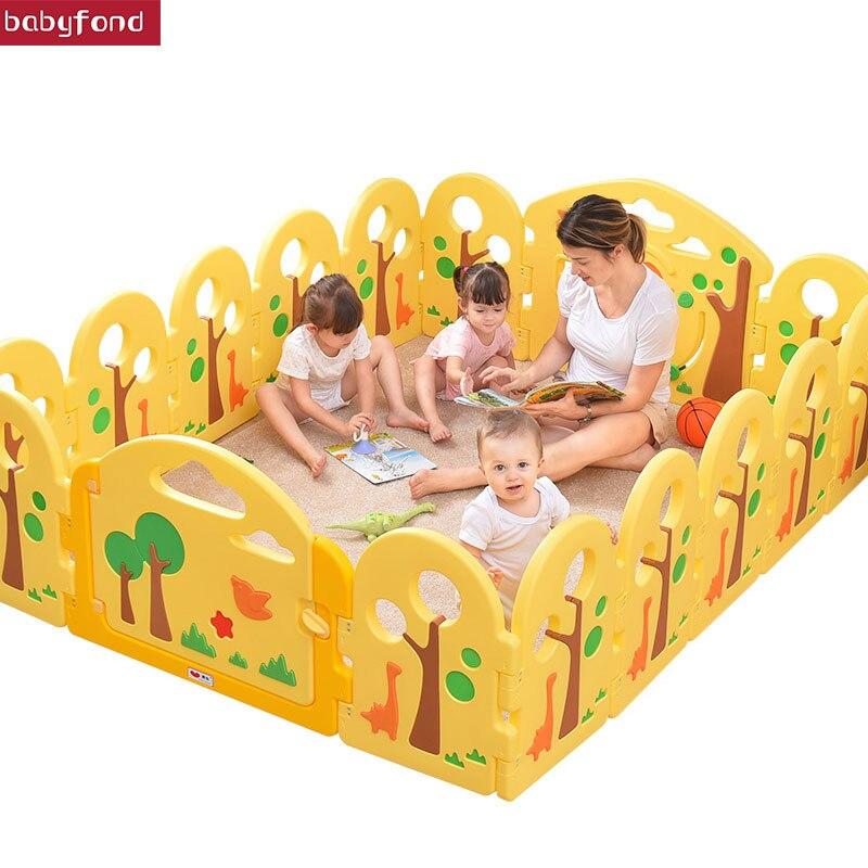 12 + 2 pièces Bébé clôture de sécurité bébé clôture parc de jeu enfant en bas âge clôture bébé intérieur de la maison clôture de sécurité