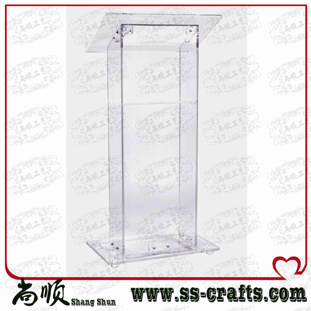 Wholesale Acrylic Podium Acrylic Church Rostrum Portable Acrylic Lectern