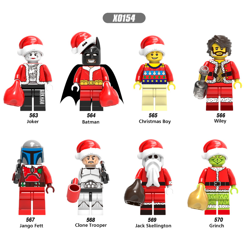 Single Sale Super Heroes Building Blocks Jack Skellington Super Heroes Christmas Joker Jemma Mini Children Toys Kids Gift