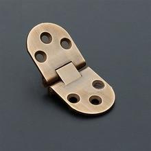 цена на 2pcs Pure copper hinge wooden box hinge flap hinge thickening