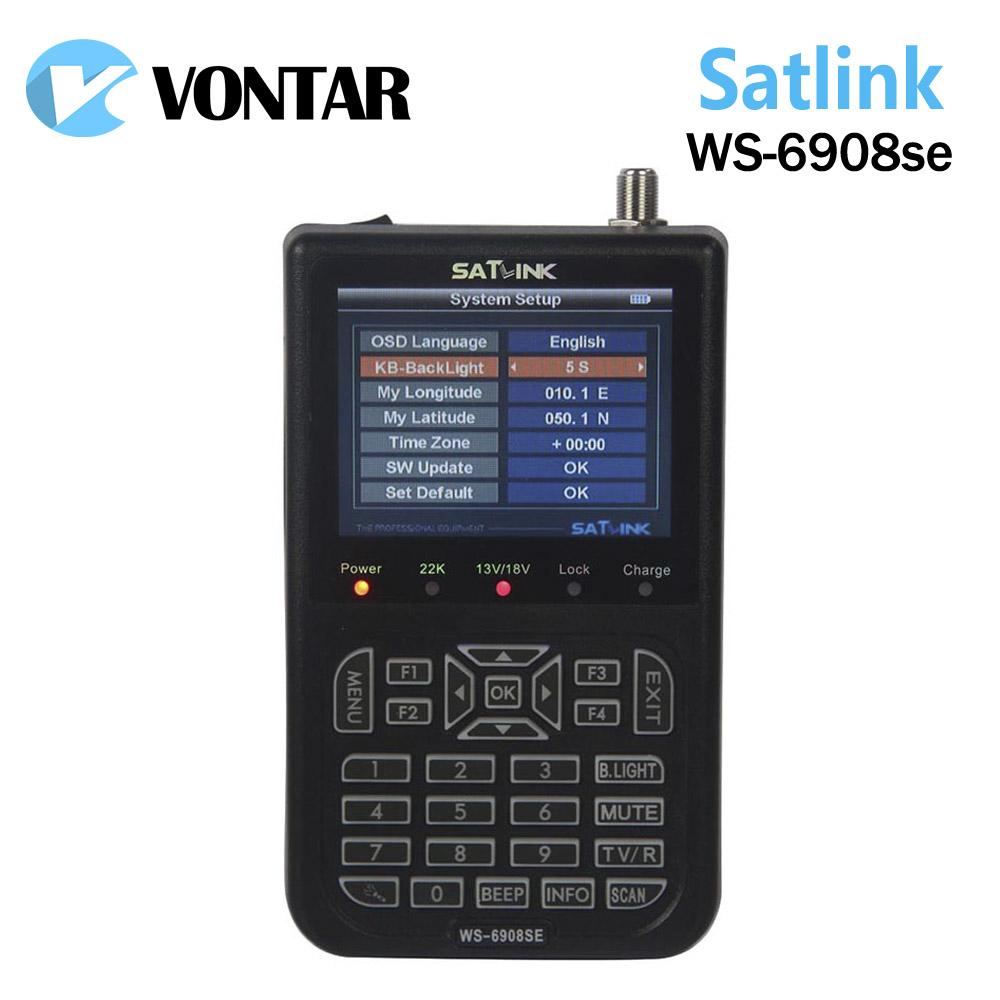 Prix pour [Véritable] Satlink WS-6908SE satellite mètre 6908se Soutien KB-LIGHT et RÉTRO-ÉCLAIRAGE satellite finder ws 6908se Satlink ws6908se