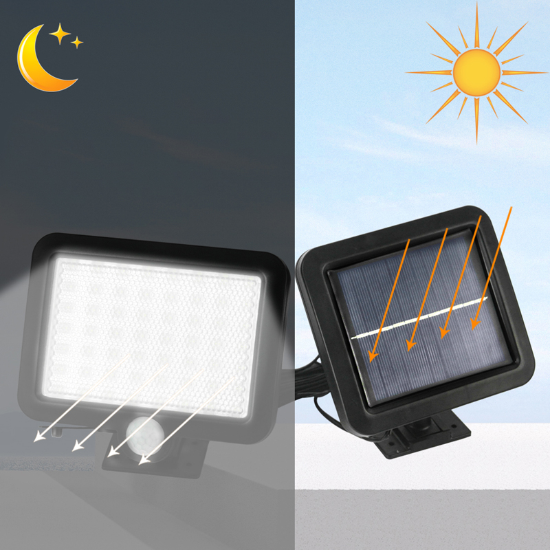 Image 5 - BORUiT 56 LED Outdoor Wall Light PIR Motion Sensor Solar Lamp IP65 Waterproof Infrared Garden Lighting Yard Spotlightssolar power lightled solar powered lightled solar -