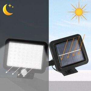 Image 5 - BORUiT 56 LED al aire libre colector Solar luz por movimiento PIR lámpara Solar Sensor IP65 impermeable infrarrojo jardín iluminación patio focos