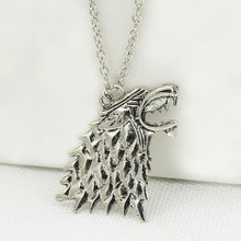 1pcs Norse Vikings Pendant Necklace Norse Wolf Head Necklace Original Animal Jewelry Wolf Head hange(China)