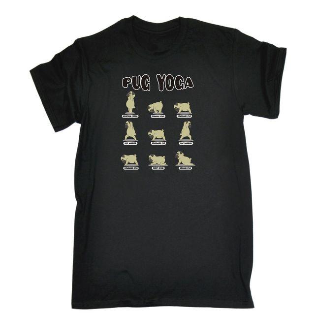 Mops Yogaer T Shirt T Stier Hund Pilates Nette Ubung Fitness Lustige