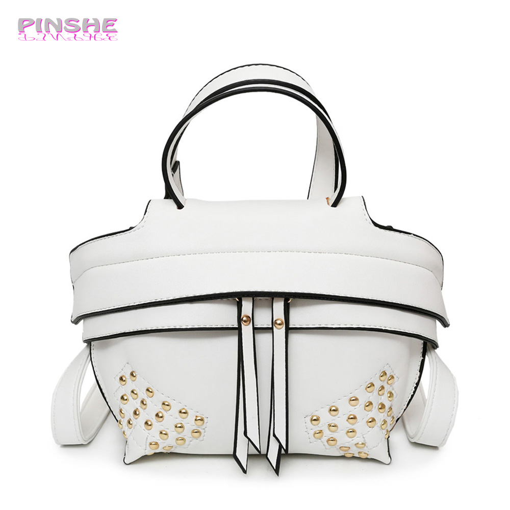 Pinshe 2017 Small Rivets Dumpling Bag Fashion