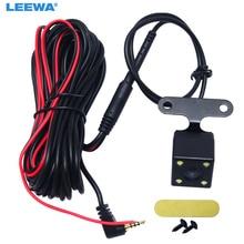 LEEWA 1 шт. автомобильный 2,5 мм(4Pin) разъем порт видео порт камера заднего вида со светодиодным ночным видением для DVR видеорегистратор# CA1829