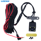 LEEWA 1pcs Car 2.5mm(4Pin) Jack Port Video Port Rear View Camera With LED Night Vision For DVR Video Recorder #CA1829