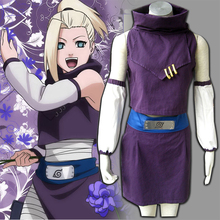 NARUTO Anime Cosplay Ino Yamanaka Disfraces de Halloween Party Cloth Tops + Falda + Correa + Mangas