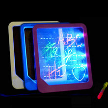 LED Light Fluorescent Writing Board Kids Electronic Luminescent Wordpad Message Board Handwriting Pad Children Toys Gift @ZJF