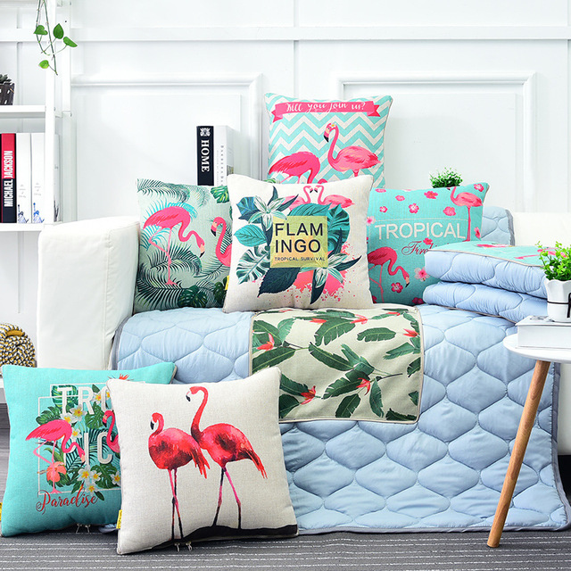 cushions home decoration Garden flamingo cotton water washing cotton pillow quilts car cushion quilts sofa upholstery