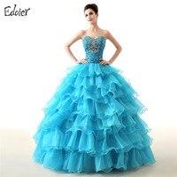 Blue Red Quinceañera Dresses Gown Bóng Sweetheart Ruffles Tầng Vestidos De 15 Anos Sweet 16 Ăn Mặc Debutante Gowns