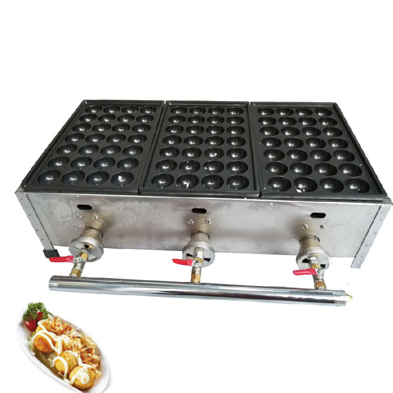 BEIJAMEI Free Shipping Commercial LPG Gas Japanese Octopus Fish Ball Takoyaki Maker Machine Industrial gas takoyaki machines free shipping gas meatball maker three plate takoyaki machine