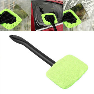 Image 4 - 1 pçs destacável 13 polegada janela escova de microfibra limpador limpeza escova com almofada de pano do carro ferramenta limpeza automática escova